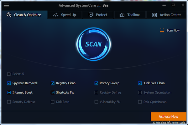 Advanced SystemCare - screenshot